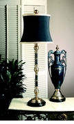 Dessau Home Antique Brass & Black Buffet Lamp with Black Shade
