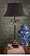 Dessau Home Nickel Plated Flower Lamp