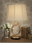 Dessau Home Antique Brass Wreath Lamp