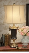 Dessau Home Antique Brass & Black Urn Lamp