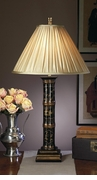 Dessau Home Black Asian Bamboo Wood Lamp