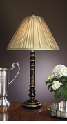 Dessau Home Black Asian Wood Lamp