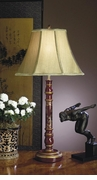 Dessau Home Red Asian Wood Lamp
