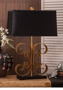 Dessau Home Antiqued Gold Scroll Lamp