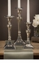 Dessau Home Pewter Candlestick Square Base - Large
