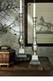 Dessau Home Antique Silver Candleholder Square Base