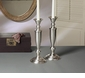 Dessau Home Antique Silver Candleholder Round Base