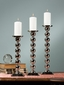 Dessau Home Silver Ball Pillar/Taper Candleholder Medium