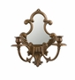 Andrea by Sadek 2 Lite Antique Brass Mirror Sconce