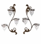 "Andrea by Sadek 16.5"" H 3 Lite Wall Sconces Pair Dark Bronze"