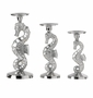 Andrea by Sadek Nickel Seahorse Pillar Holders (Set of 3)