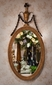 Dessau Home Wood Oval Mirror Gold/Bronze with Urn Finial