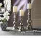 Dessau Home Pewter Pillar Candleholder - Large