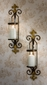 Dessau Home Fleur De Lis Sconce with Rain Glass And Brass Medallion