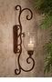 Dessau Home Bronze Flare Scroll Sconce