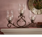 Dessau Home Bronze 3 Light Flare Scroll Hurricane