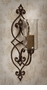 Dessau Home Bronze Iron Scroll Sconce with Hammered Globe