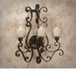 Dessau Home Bronze Iron 3 Light Acanthus Sconce