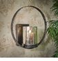 Dessau Home Pewter Finish Circle Wall Sconce