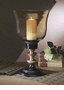 Dessau Home Antique Brass & Black Hurricane with Amber Globe