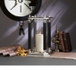 Dessau Home Antique Silver & Black Hurricane with Glass Cylinder