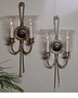 Dessau Home Antique Silver & Black 2-Light Hurricane Sconce