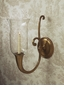 Dessau Home A/B Horn Sconce ( With Clear Glass & Rim Not Shown)
