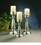 "Dessau Home Antique Silver Pillar 14"" Candleholder"