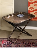 Dessau Home Folding Bamboo Iron Tray Stand