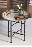 Dessau Home Iron Bamboo Stand for Round or Octagonal Tray