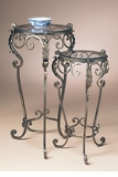 Dessau Home Nested Tables Set of 2 Bronze Iron Acanthus Leaf