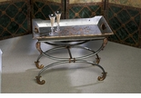 Dessau Home Pewter Finish Iron Tray & Stand