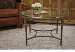 Dessau Home Bronze Acanthus Coffee Table