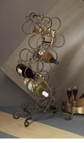 Dessau Home Florence Wine Rack 12 Bottles Bronze Iron with Brass