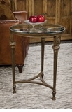 Dessau Home Bronze Acanthus End Table