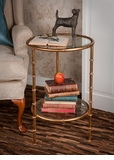 Dessau Home Antique Gold Iron Bamboo Table