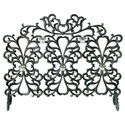 SPI Home Scroll & Votive Candleholder Aluminum Fireplace Screen