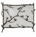 SPI Home Pinecone Mesh Aluminum & Iron Fireplace Screen