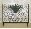Dessau Home Pineapple Fire screen Bronze Verdi Iron