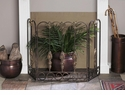Dessau Home Tuscany Firescreen Bronze Iron with Brass Medallions