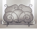 Dessau Home Pewter Firescreen with Mesh Screen