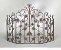 Dessau Home Leaf Firescreen Bronze Iron with Brass Accents