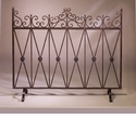 Dessau Home Bronze Iron Firescreen with Bronze Medallions