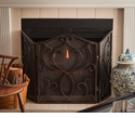 Dessau Home Bronze Flare Scroll Mesh Firescreen