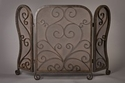 Dessau Home Bronze Mesh Firescreen with Scroll Design