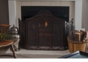 Dessau Home Bronze Mesh Scroll Firescreen