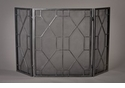 Dessau Home Pewter Mesh Geometric Firescreen