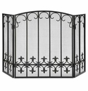 SPI Home Fleur de Lis Fireplace Screen