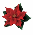 Andrea by Sadek Small Red Poinsettia Porcelain Flower Figurine
