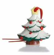 Franz Porcelain Collection Holiday Greetings Sculptured Porcelain Christmas Tree Ornament